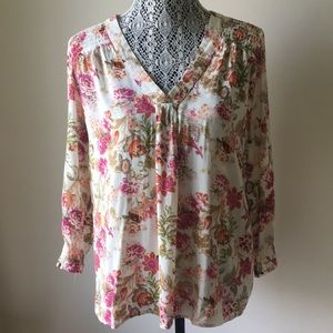 Cynthia Rowley Flowered Blouse